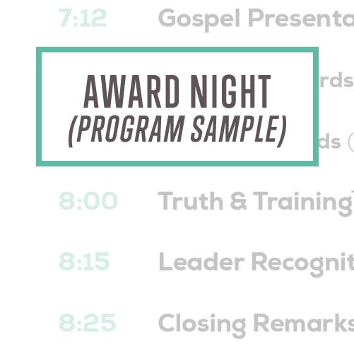 Awana Award Night Program Sample Thumbnail