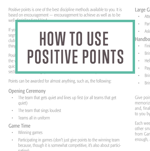 How to Use Positive Points Thumbnail