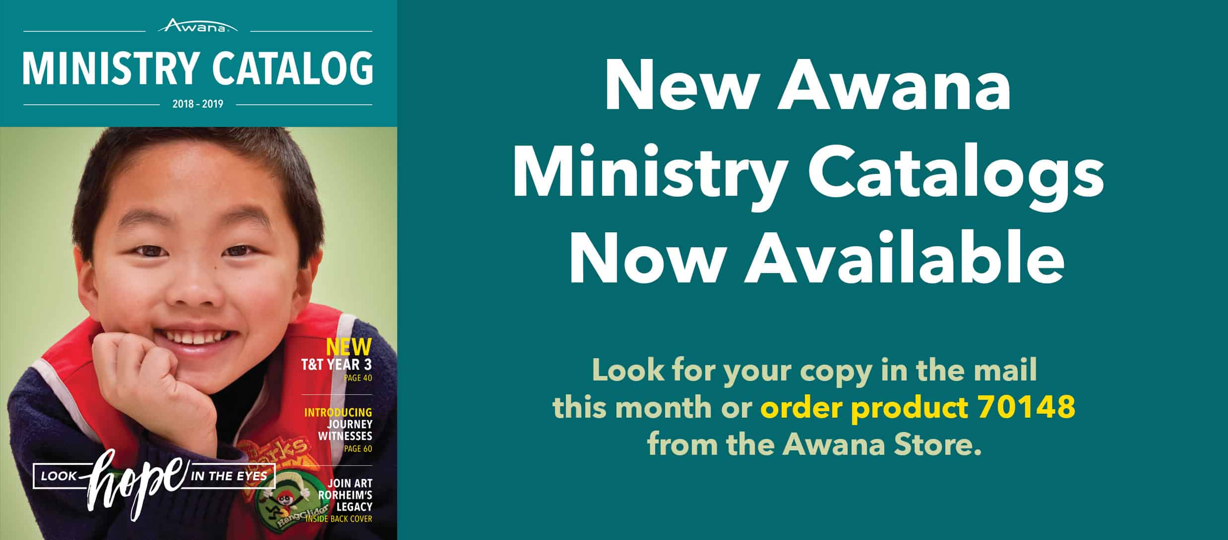 New Awana Ministry Catalogs Now Available