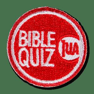 Bible Quiz Participation Patch Red 83651