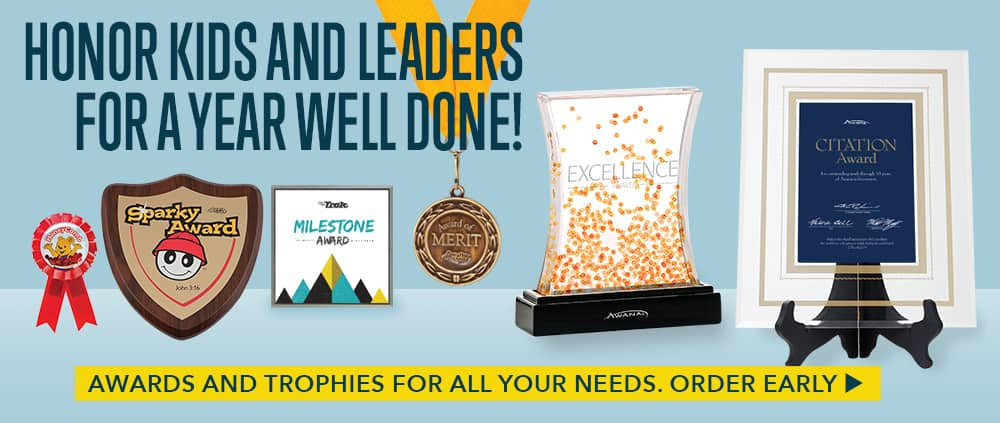 Honor kids and leaders for a year well done - Awards and trophies for all your needs. Order early.
